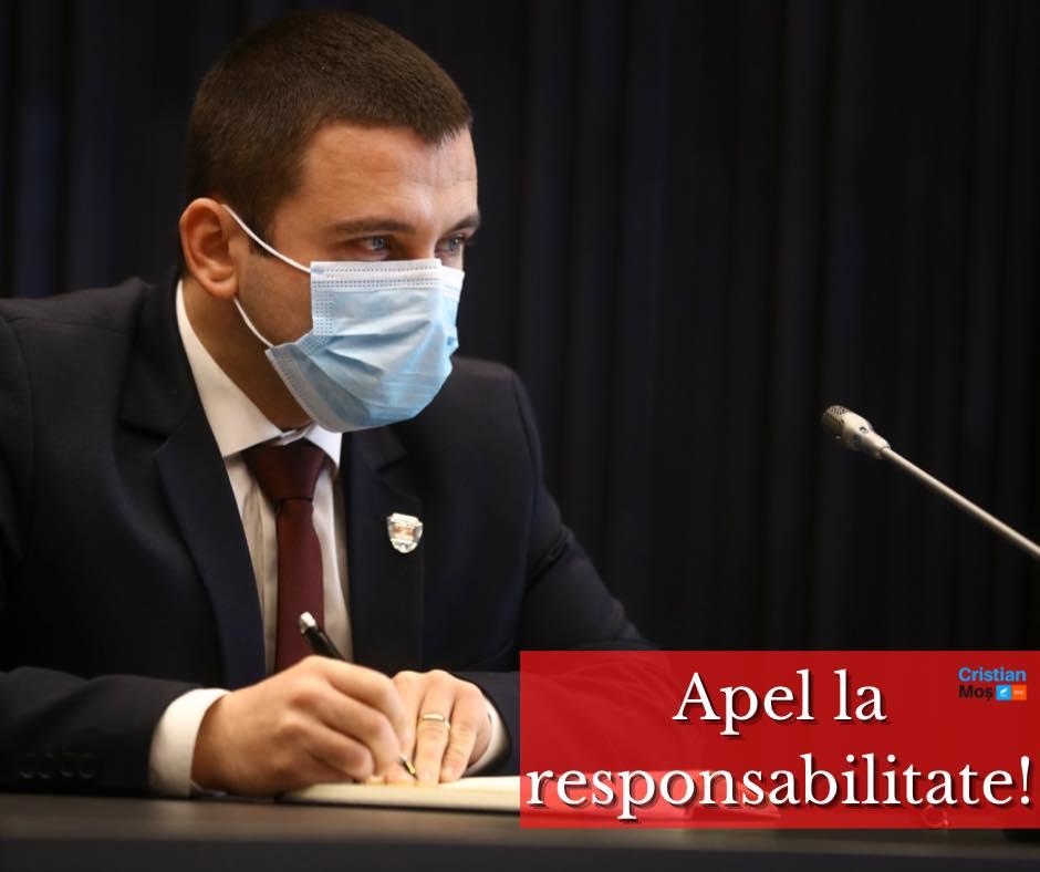 Cristian Moș, vicepreședintele CJ Timiș, nu vrea ca Timișoara să intre în carantină