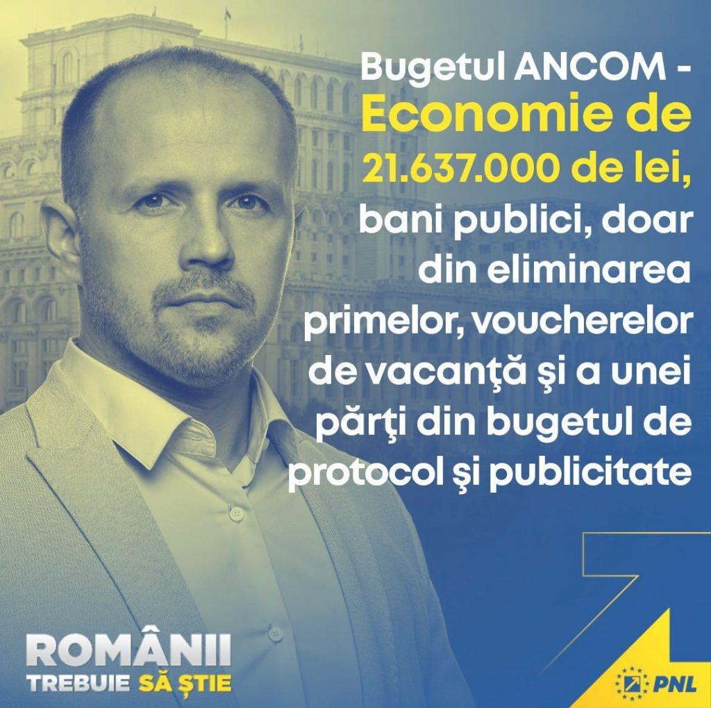 PNL își face un titlu de glorie prin faptul că a ciuntit bugetul ANCOM