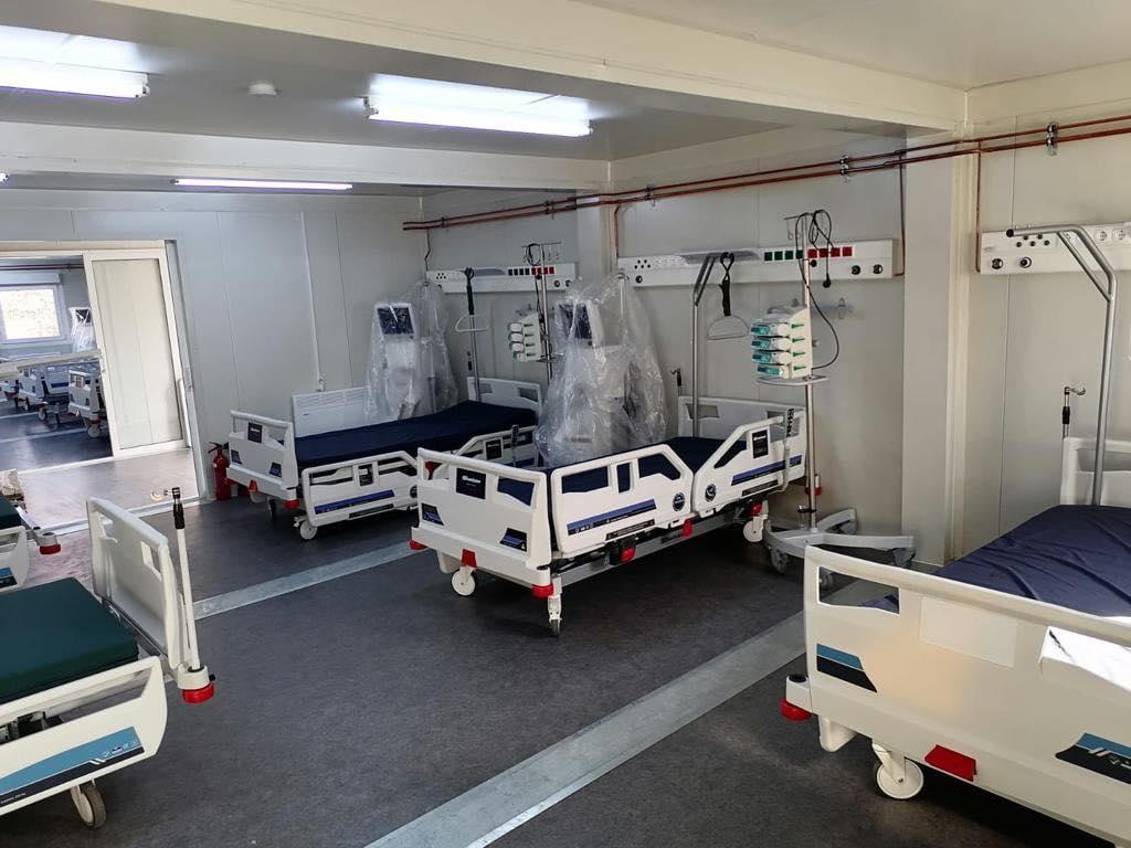 10 paturi pentru pacienții gravi cu Covid, funcționale la spitalul de campanie din Timișoara
