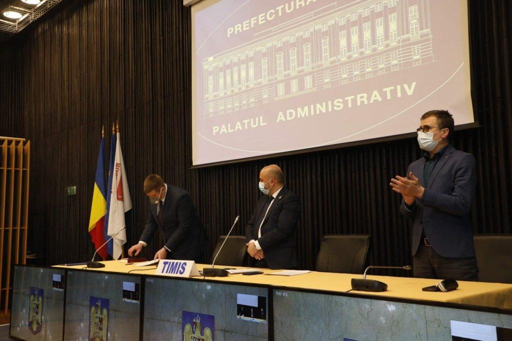 Zoltan Nemeth a depus jurământul în funcția de prefect de Timiș