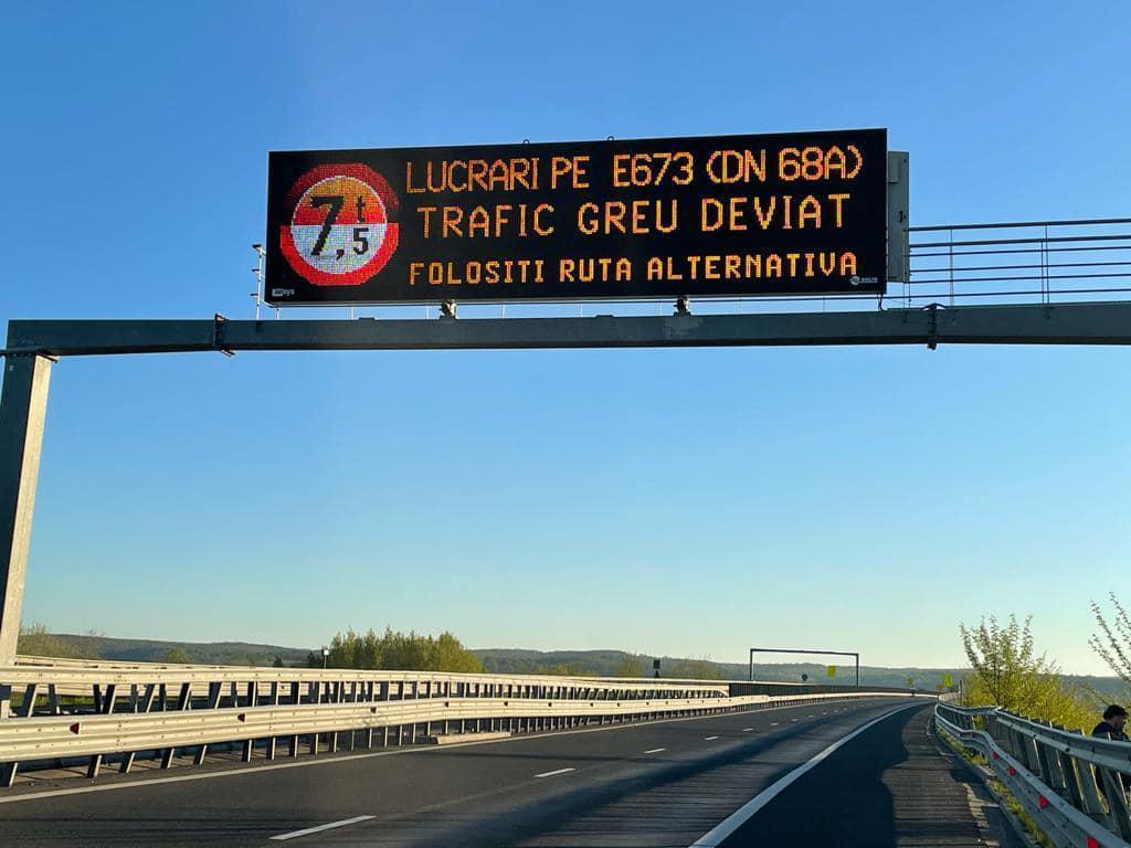 Camioanele, interzise pe drumul Margina – Holdea, începând de astăzi