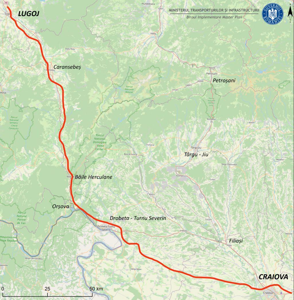 Drum de mare viteză între Oltenia și Banat, din Craiova până la Lugoj