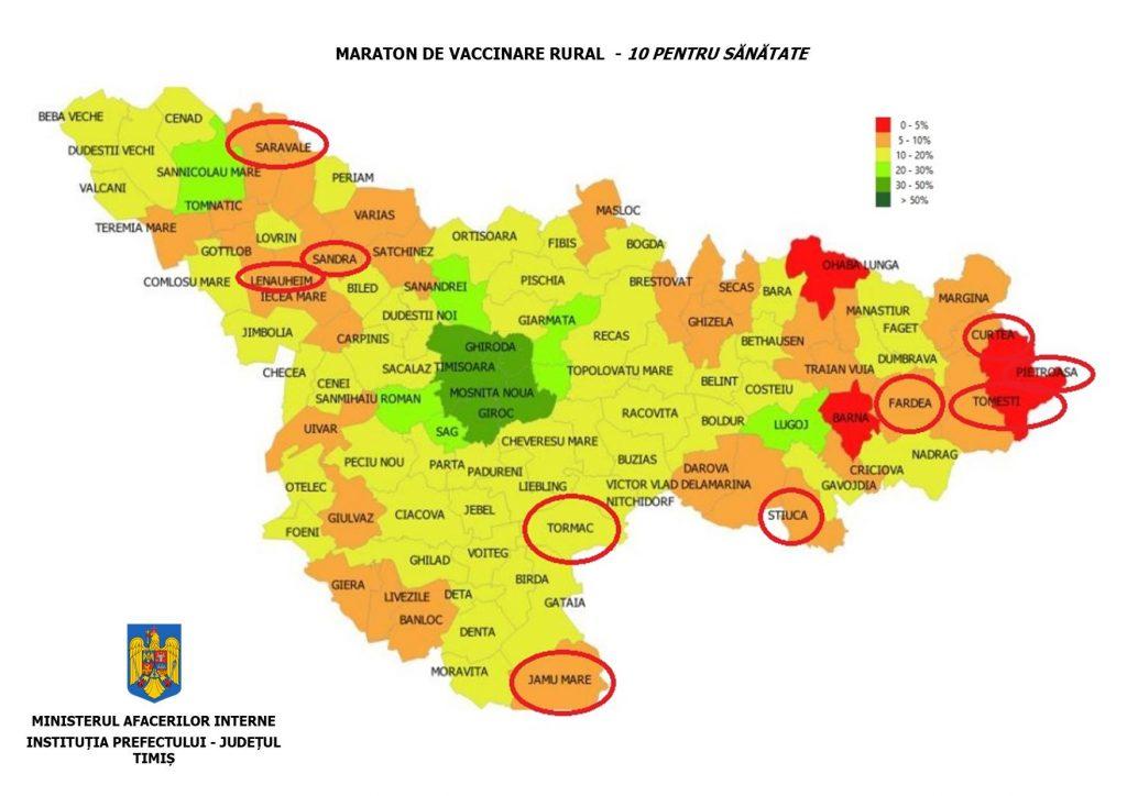 Maraton de vaccinare în zece sate din Timiș