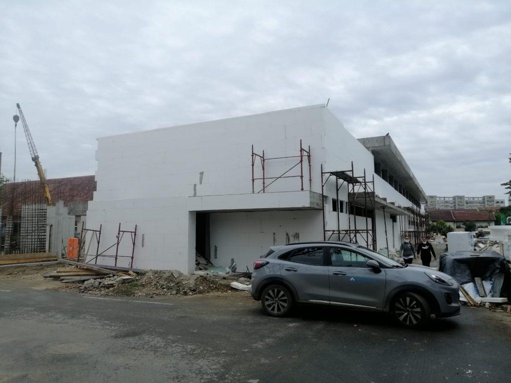 Noul corp de clădiri de la Spitalul de Boli Infecțioase din Timișoara, la un stadiu de realizare de 20%