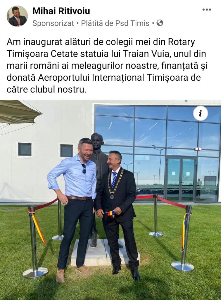 PSD Timiş, sponsor al Rotary?!
